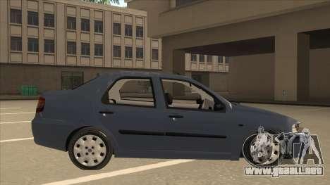 Fiat Siena Ex para GTA San Andreas vista posterior izquierda