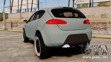 Seat Leon Gtaciyiz para GTA 4 Vista posterior izquierda