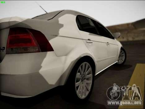 Volkswagen Voyage Taxi para la visión correcta GTA San Andreas