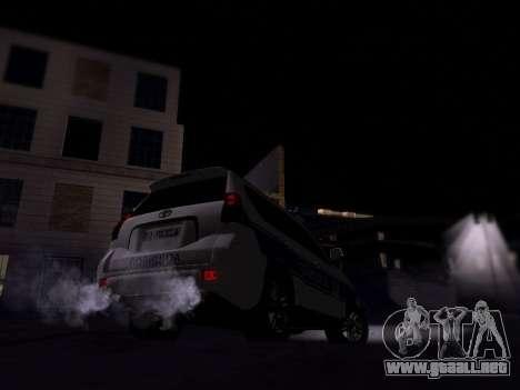 Toyota Land Cruiser POLICE para la visión correcta GTA San Andreas