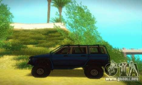 UAZ Patriot para GTA San Andreas vista posterior izquierda