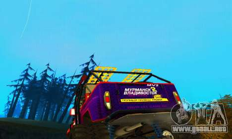 UAZ Hunter juicio para la vista superior GTA San Andreas
