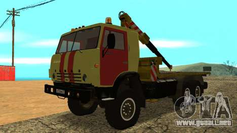Grúa 43114 KAMAZ para GTA San Andreas