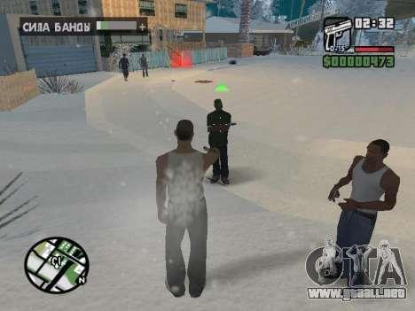 Conmutación entre personajes como GTA V para GTA San Andreas octavo de pantalla