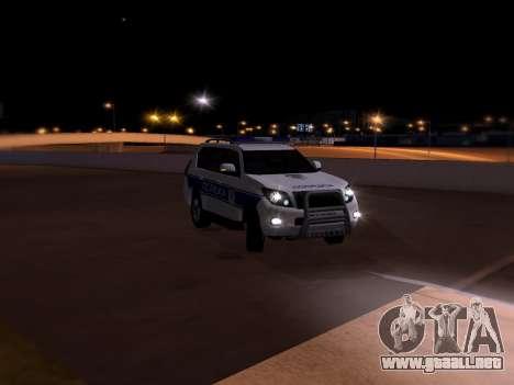 Toyota Land Cruiser POLICE para la vista superior GTA San Andreas
