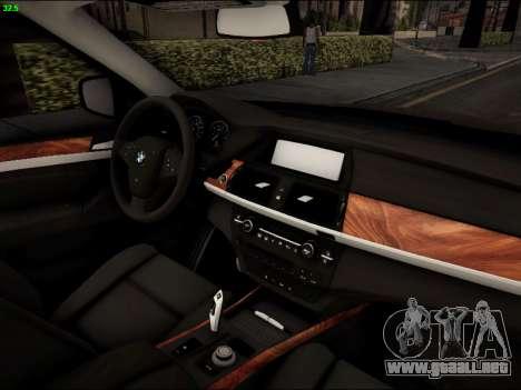 BMW X5M para visión interna GTA San Andreas
