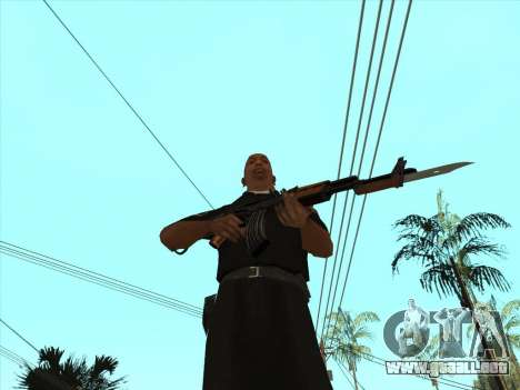 AKMS con bayoneta-cuchillo para GTA San Andreas sucesivamente de pantalla