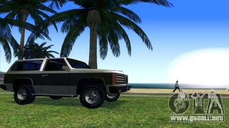 Rancher Bronco para GTA San Andreas vista hacia atrás