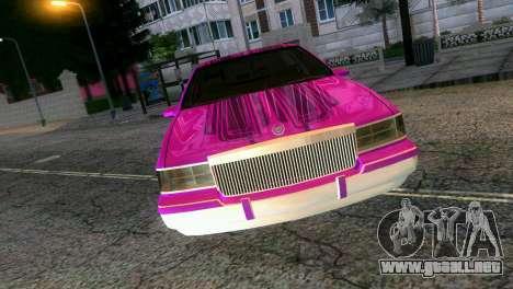 Cadillac Fleetwood Coupe para GTA Vice City visión correcta