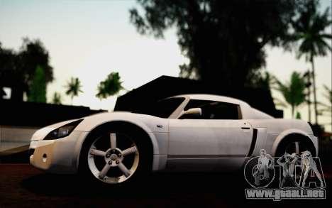 Opel Speedster Turbo 2004 para vista inferior GTA San Andreas