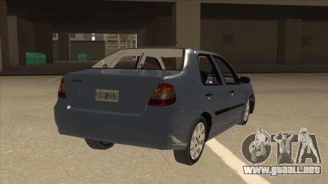 Fiat Siena Ex para la visión correcta GTA San Andreas