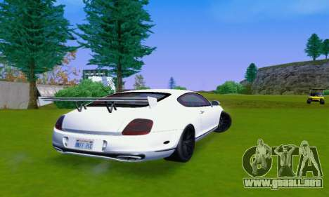 Bentley Continental Extremesports para la visión correcta GTA San Andreas