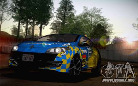 Renault Megane RS Tunable para vista lateral GTA San Andreas