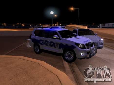 Toyota Land Cruiser POLICE para vista inferior GTA San Andreas