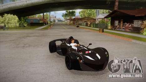 BAC Mono 2011 para visión interna GTA San Andreas