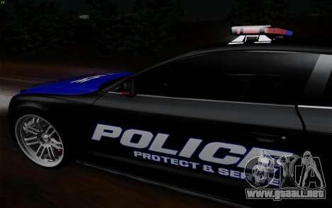 Audi RS5 2011 Police para GTA San Andreas vista posterior izquierda