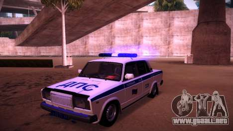 VAZ 2107 policía DPS para la vista superior GTA San Andreas