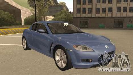 Mazda RX8 Tunable para GTA San Andreas left