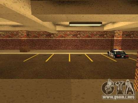 Nuevo garaje interior policía HP para GTA San Andreas segunda pantalla