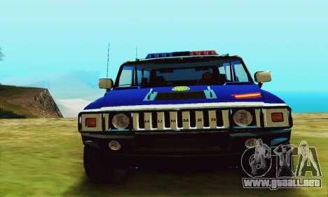 Hummer H2 G.E.O.S. para la visión correcta GTA San Andreas