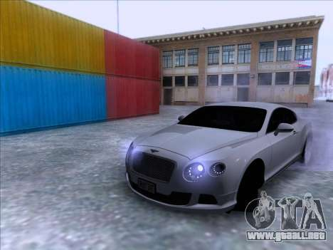 Bentley Continental GT Final 2011 para la visión correcta GTA San Andreas