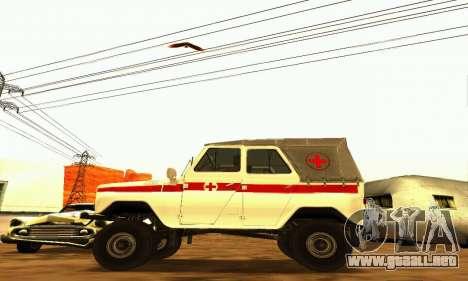 UAZ 469 ambulancia para GTA San Andreas left