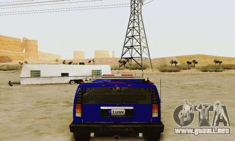 THW Hummer H2 para la visión correcta GTA San Andreas