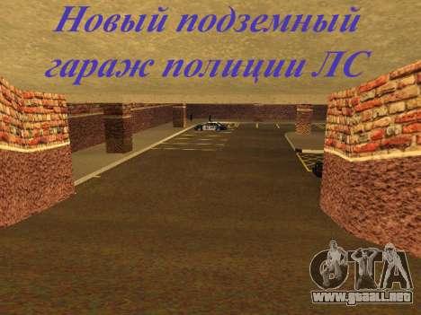 Nuevo garaje interior policía HP para GTA San Andreas