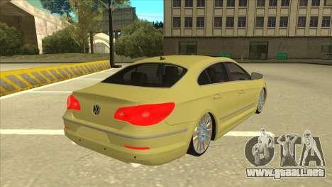 VW Passat CC para la visión correcta GTA San Andreas