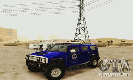 THW Hummer H2 para vista lateral GTA San Andreas