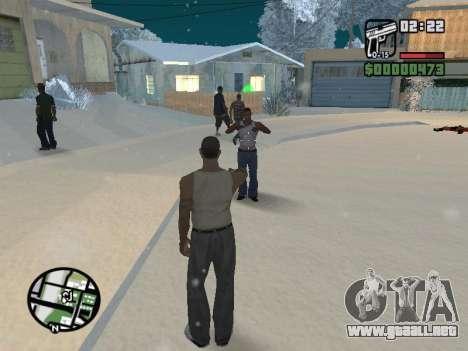 Conmutación entre personajes como GTA V para GTA San Andreas séptima pantalla