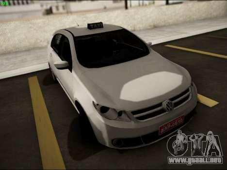 Volkswagen Voyage Taxi para GTA San Andreas vista hacia atrás