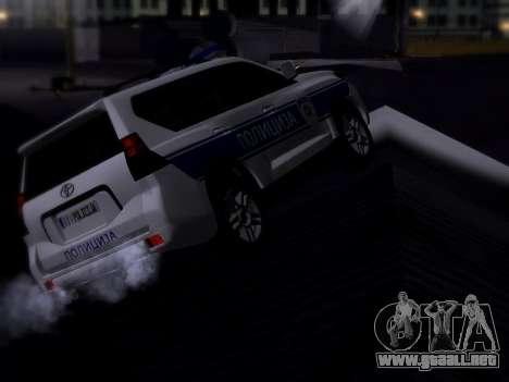 Toyota Land Cruiser POLICE para GTA San Andreas vista posterior izquierda