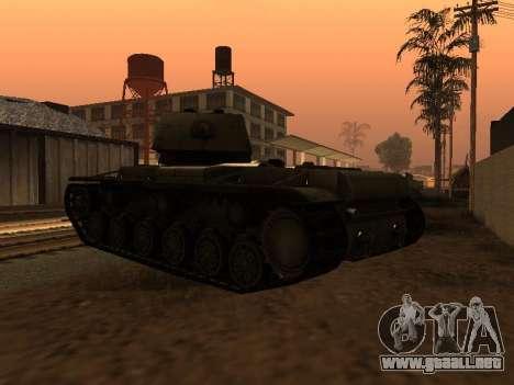 KV-1 para GTA San Andreas vista posterior izquierda