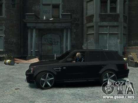 Range Rover Sport 2013 para GTA 4 vista hacia atrás