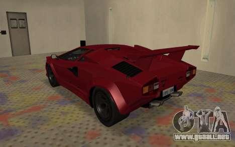 Lamborghini Countach LP5000 Extreme para la visión correcta GTA San Andreas