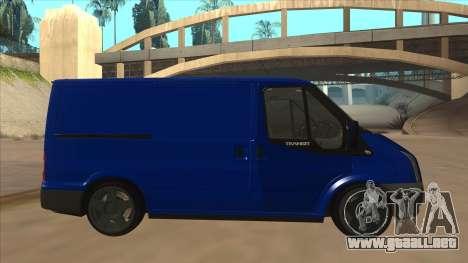 Ford Transit Swb 2011 Stance para GTA San Andreas vista posterior izquierda
