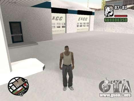 Conmutación entre personajes como GTA V para GTA San Andreas tercera pantalla