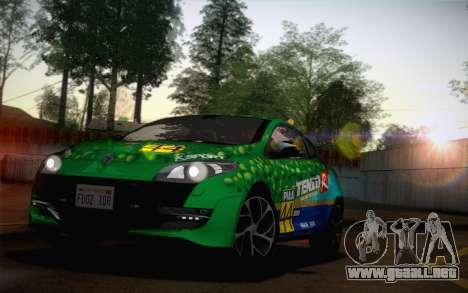 Renault Megane RS Tunable para visión interna GTA San Andreas