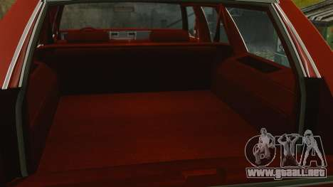Chevrolet Caprice Wagon 1989 para GTA 4 vista interior