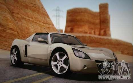 Opel Speedster Turbo 2004 para GTA San Andreas vista posterior izquierda