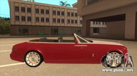 Rolls Royce Phantom Drophead Coupe 2013 para GTA San Andreas vista posterior izquierda