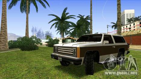 Rancher Bronco para GTA San Andreas left
