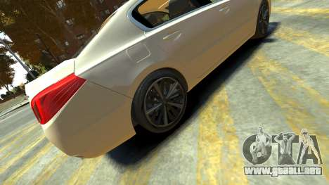 Peugeot 408 GT para GTA 4 Vista posterior izquierda