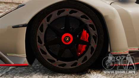 Lamborghini Veneno para GTA 4 vista hacia atrás