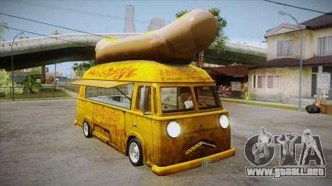 Hot Dog Van Custom para visión interna GTA San Andreas