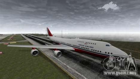 El avión de Turkish Airlines para GTA 4 visión correcta