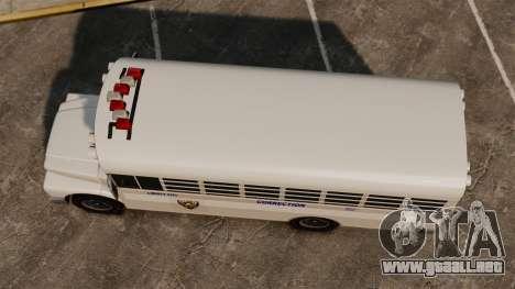 El autobús de la prisión Liberty City para GTA 4 visión correcta