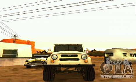 UAZ 469 ambulancia para GTA San Andreas vista hacia atrás