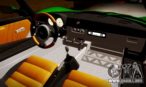 Opel Speedster Turbo 2004 para visión interna GTA San Andreas